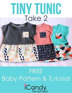 DIY Tiny Tunic Take 2- Free Baby Pattern & Tutorial!