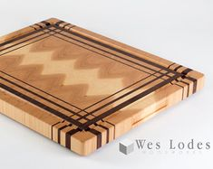 No Juice Groove  3D Tumbling Block End Grain Cutting Board. 11 1/4 x 15 1/2 x 1 1/4 Thick  A Juice groove like in the last 2 pictures is not