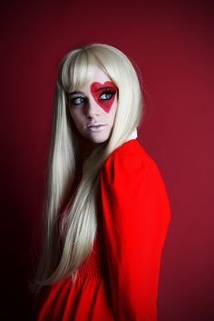 'queen of hearts'. S) I love this make-up for Halloween if you don't want to be scary and pretty is your motto!