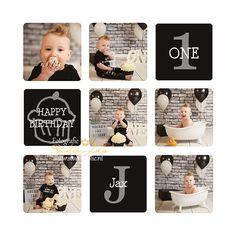 Black and White Cakesmash, cakesmash, jongen, stoer