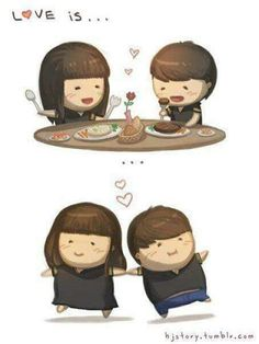El amor engorda jajaja...