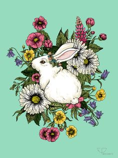 """Rabbit In Flowers"" Featured on RB Homepage on 25 May 2015"