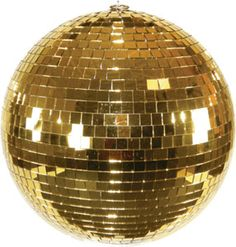 Gold disco ball, $120. @HOME, maybe turn ornament versions into garland?
