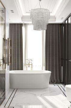 Chic, subtle glamour in this elegant bathroom