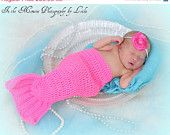 Crochet Mermaid Tail for infant.  I don't have a baby girl, but if I did, this would be her Halloween costume!