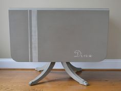 painted drop leaf table - Google Search