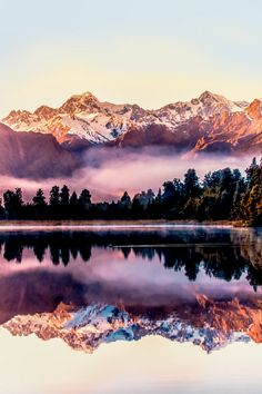 Lake Matheson, near the Fox Glacier in South Westland, New Zealand