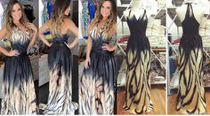 q Foto Real, Aliexpress, Hair Styles, Beauty, Dress Long, Block Prints, Vestidos, Pictures, Hair Plait Styles