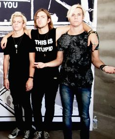 Ross, Rocky and Riker! I love Rockys shirt, got to find me one like that ;)