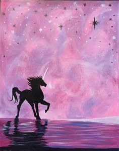 Paint Nite Wild And Free Unicorn Trending Paintings | Beautiful Cases For Girls