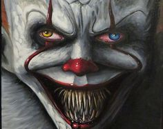 IT changes'' oil on canvas (pennywise)