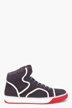 e462eabd421 Lanvin Black Ridge Tennis Shoes Tennis Sneakers