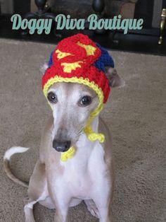 aa5894751eb Items similar to Dog Hat - Superman Dog Hat - Super Hero s Dog Hat for Cat  or Dog Custom Made on Etsy