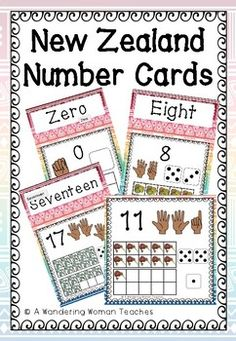 Maori/ Pacifika themed number posters to help our children with number recognition and subitizing. Maori Patterns, Number Posters, Subitizing, Number Recognition, Kiwiana, Ten Frames, Classroom Displays, Teacher Pay Teachers, Teacher Newsletter