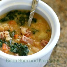 Clawson Live: Bean Ham and Kale Soup   Added Rosemary & Thyme, Garlic Cloves, Collard & topped with Asiago Cheese No potato