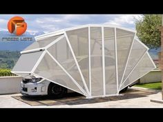 Not having a garage means a car covered in leaves, ice, bird droppings, or worse. The Gazebox wants to solve your woes; it's a structure you can put on your property that doubles as a gazebo when you're not parked in it. Backyard Scientist, Car Shed, Car Shelter, Portable Garage, Carport Designs, Diy Home Decor On A Budget, Decoration Design, Car Covers, Car Garage
