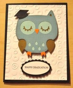 Owl Graduation Card or invitation by APookandAPeep on Etsy, $3.50