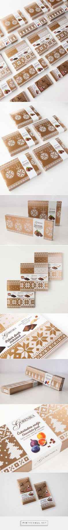 Creative christmas design New Years Gorenjka Special Chocolate Collection on Packaging of the World - Creative Package Design Gallery - Brand Packaging, Gift Packaging, Design Packaging, Coffee Packaging, Bottle Packaging, Packaging Ideas, Branding, New Year Packages, New Year Designs