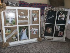 Primitive old window picture frame by LilBitCountry7720 on Etsy, $60.00