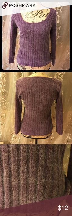 """Angora Rabbit Burgundy Sweater This is such a gorgeous sweater! I have no use for it now that I live in AZ😝 Very warm & soft. Beautiful purple color. 💠22""""shoulder to bottom 💠16"""" from armpit to wrist. 🎁I always gift wrap, give a free surprise & bundle w/ @missrochelles & @babyknits! Adjustable straps! Just gorgeous🎉🎉🎉 Id be happy to model for serious buyers😘😘😘 Arizona Jean Company Sweaters Crew & Scoop Necks"""