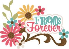 Friends Forever SVG scrapbook title best friends svg file for scrapbooking friends svg cut files
