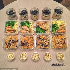 Portion control: Meal prep also means that you're less likely to over eat, as everything is prepared in single serves