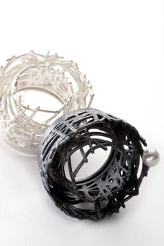"""Nobuko Okumura is a Japanese Jewellery Designer Maker, currently working in The UK.  Contemporary jewellery is her passion. """"Threads Collection"""""""