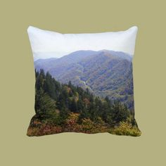 Fall in the Smokys Throw Pillows