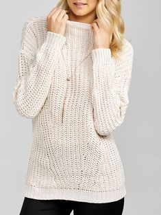 Mock Neck Chunky Pullover Sweater