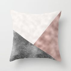 Rose grunge - geo layers Throw Pillow by peggieprints Buy Roses, Mixed Metals, Dried Flowers, Geo, Grunge, Twin, Layers, Rooms, Rose Gold