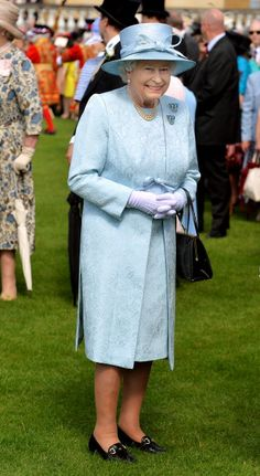 Queen Elizabeth II attends her garden party held at Buckingham Palace on June 10, 2014 in London, England.