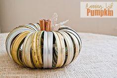 Mason Jar Lid Pumpkins http://www.simplyklassichome.com/2012/09/canning-jar-lid-pumpkin.html?m=1