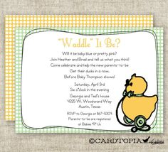 Birth Announcements & Cards Baby Temperate Wilton Duck Baby Printable Announcement Magnets Set Of 6