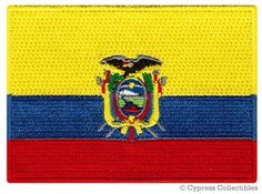Ecuador Patch Iron on South America