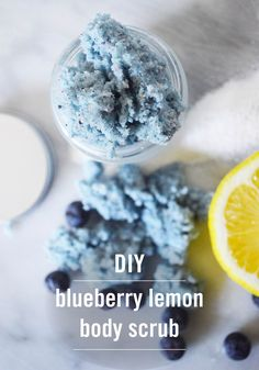 This exfoliating DIY Blueberry Lemon Body Scrub recipe smells incredible and will leave your skin feeling super soft and polished. With 5 simple ingredients, it's so easy to make your own.