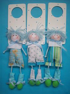 muñecos de trapo para las habitaciones de los niños! súper fáciles!