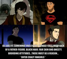 This is the point of this board. Examples: Zuko (Avatar: The Last Airbender), Superboy (Young Justice), Kevin E. Levin (Ben 10), Mako (The Legend of Korra)