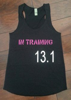 In Training 13.1  running tank by LoveStrongClothing on Etsy, $23.00