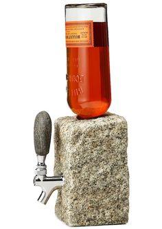 Stone Drink Dispenser: Drink on the Rocks