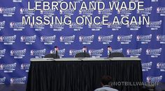 Post-conf. interviews with LaBron and DWade