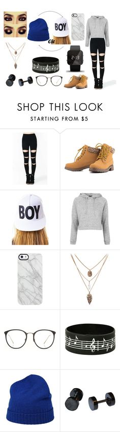 """Ming hee(show)"" by victoria-kook ❤ liked on Polyvore featuring BOY London, Topshop, Uncommon, Linda Farrow, malo and 1:Face"