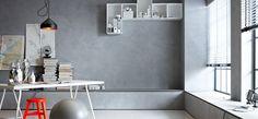 Wandgestaltung in Beton-Optik (Schöner Wohnen Farbe)