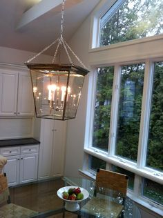 The perfect Kitchen Pendant Lantern. Oversized, chrome - beautiful!  Via Circa Lighting