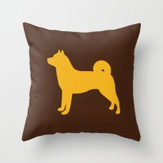 Akita Silhouette Throw Pillow Cover ONLY  by ModernPetPortraits, $22.00