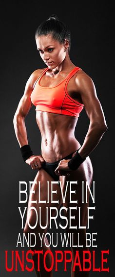 Believe in yourself and you will be unstoppable. This fitness challenge is a great point to start the body and mind transformation. Once you see the results, it will be easier to continue for the long term too! #workoutplan #workoutforwomen #weightlosspla