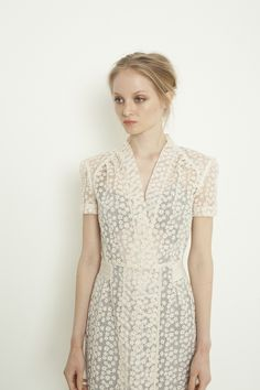 Great dress! The soft pleats at the raglan shoulder line, the transparency, the gentle solid colour 'belt'... The Clothes Horse: Ingrid Starnes Spring 2013