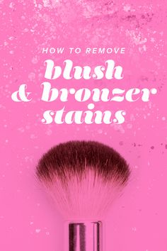 Get rid of blush and bronzer stains on your clothes, sheets and towels with these tips, tricks and hacks. Blush Brush, Wash Your Face, Aloe Vera Gel, Skin So Soft, Beauty Hacks, Beauty Tips, Bronzer, Skin Care Tips, Lip Balm