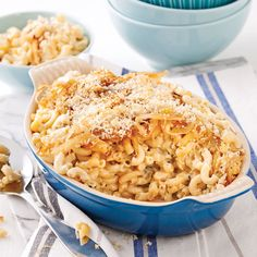 Macaronis au fromage et oignons caramélisés - 5 ingredients 15 minutes Macaronis, Daycare Menu, Pasta Noodles, Family Meals, Macaroni And Cheese, Main Dishes, Ethnic Recipes, Desserts, Food