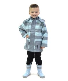 Look at this #zulilyfind! DRENCH Blue Stripe Raincoat  - Infant, Toddler & Boys by DRENCH #zulilyfinds
