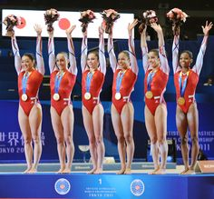I looooved this leotard on team USA at the 2011 worlds! The design and the USA colors were just perfff Gymnastics World, Gymnastics Pictures, Rhythmic Gymnastics, Team Leo, 2012 Summer Olympics, Strong Body, World Championship, Sports Women, Leotards